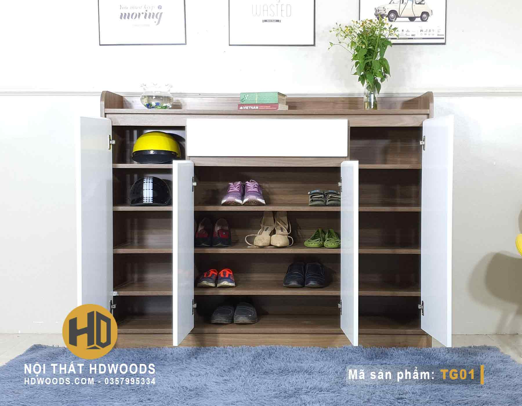 Tủ đựng giày TG01 có nhiều ngăn
