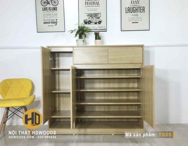 Cách chia ngăn của tủ giày gỗ TG04